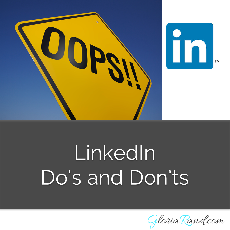 linkedin do's and don'ts