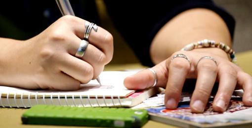 taking notes at social media marketing world