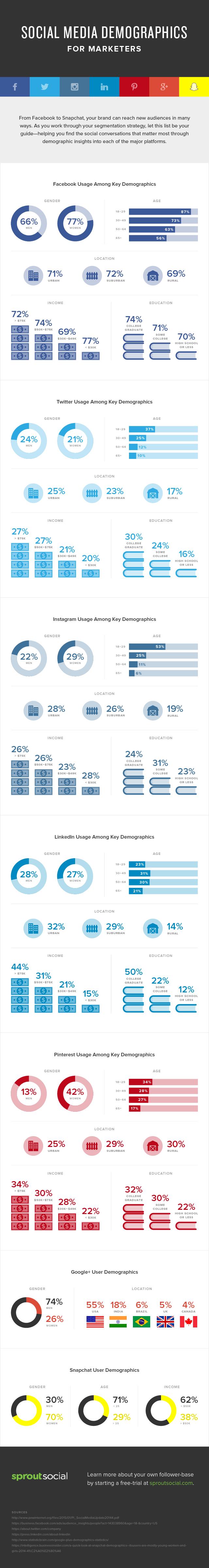social networking demographics